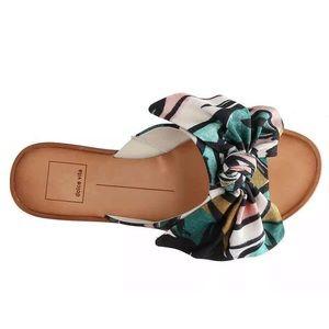 DOLCE VITA Parin Sandals Canvas Oversized Bow